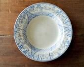 VINTAGE Blue Aesthetic Transferware Cliff Alhambra Hanley Ironstone White  Bowl