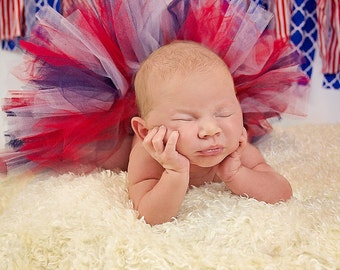 Infant americana Tutu  - SEWN tutu - Infant tutu -  red white blue tutu - Baby Tutu - Infant tutu - Photo Prop tutu - patriotic Tutu