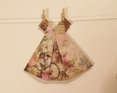 Large Origami Dress bicycle and floral motif