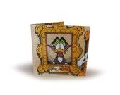 Count Duckula Wallet - Recycled Comic Book in Vinyl - Nineties Cartoon