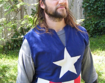 Captain America Tabard, Men's Medium/Large