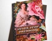 Handmade Art Nouveau Card, Never Stop Dreaming Victorian Card