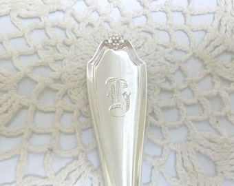 Sterling Silver Monogrammed Teaspoon 1910 /