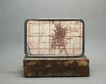 Belt Buckle Norman Oklahoma Vintage Map Cool Gift for Men or Women