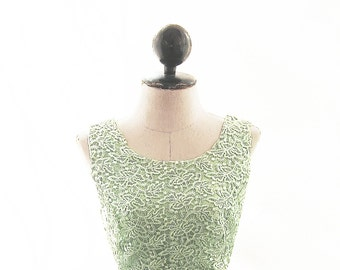 Dress Seafoam Lace Elven Green Jane Austen Cocktail Gown Victorian Skater Prom Dress Lord of the Rings Ethereal Romantic Game of Thrones