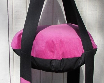 Cat Bed Hot Pink & Black Cat Bed, Double Kitty Cloud,  Hanging Cat Bed, Pet Furniture, Gift