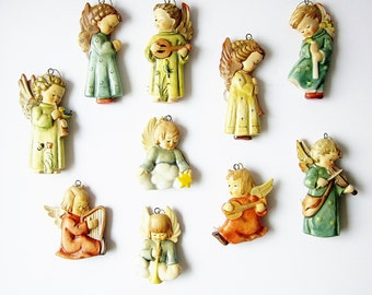 Hummel Christmas Ornament Collection - Angels Of Christmas The Danbury Mint 1989 - Vintage Goebel Porcelain - Xmas Holiday Decorations