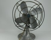 Vintage Industrial Fan Chrom-Ever Aluminum Tilting Wade-Youmans Company
