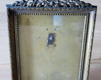 Oblong French Frame with Laurel Wreath Top...c1900-1920