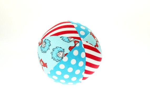 "Dr Seuss Thing 1 & Thing 2 - Small (4"") Cloth Ball"