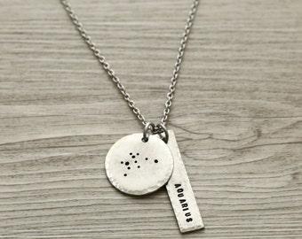 Aquarius, Aquarius Necklace, Aquarius Jewelry, Constellation Necklace, Boho Jewelry, Custom Jewelry, Constellation Jewelry, Boho Necklace
