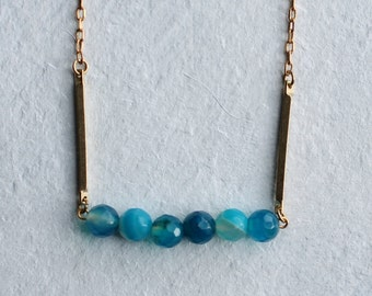Turquoise Gemstone Necklace ... Industrial Modern Geometric