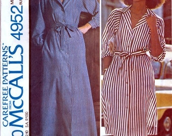 McCall's 4952 by Halston Vintage 70s Misses' Dress Sewing Pattern - Uncut - Size 12 - Bust 34