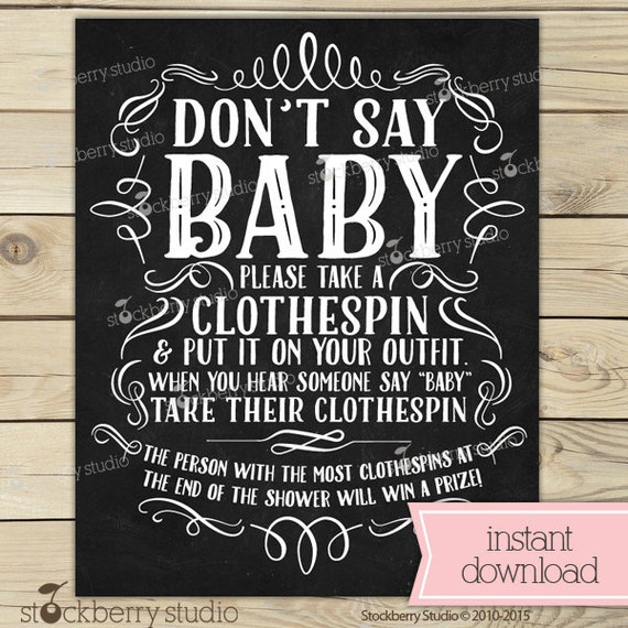 Massif image within free don't say baby printable