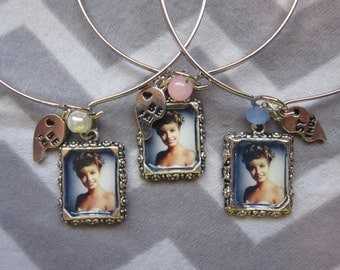 Bangle Bracelet SETS inspired by Laura Palmer w/ portrait & half heart. Only Available as PAIRS.