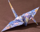6 inches patterned cranes (32 pieces in blue)