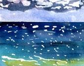 Sun Dance print of watercolor by Mary Blocksma 8x10 Mat