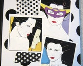 Patrick Nagel Small Notebook Journal Diary X