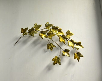1970s Ivy Metal Wall Sculpture