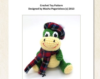 Baby the Dino - pdf crochet toy pattern - amigurumi photo tutorial
