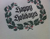 """Hand-Set Letterpress """"Happy Holidays"""" Cards - 10-pack - A2 size"""
