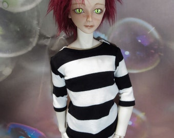 Big Black and White Stripes 70cm BJD Shirt