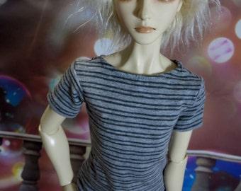 Gray Striped 60cm BJD Shirt SD13