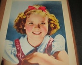 Handmade Vintage Shirley Temple Scrapbook Photos Newspaper Clippings Publicity Shots Celebrity Child Actress Movie Star 1930s Hollywood