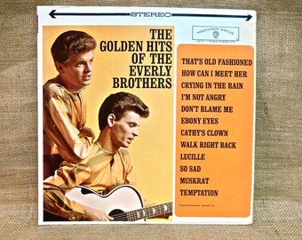 The EVERLY BROTHERS -  The Golden Hits of the Everly Brothers - 1962 Vintage Vinyl Record Album