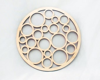 Floating Bubble Circles - Raw Wood Home Decor