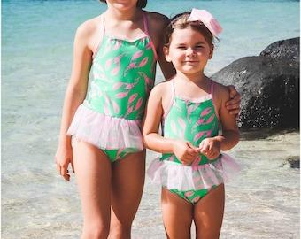 Tutu Cute Swimsuit: Tutu Swimsuit Sewing Pattern, Girls Swimsuit Pattern, Baby Swimsuit Pattern, Toddler Swimsuit Pattern