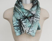 mint scarf, hand printed scarf, 88editions scarves