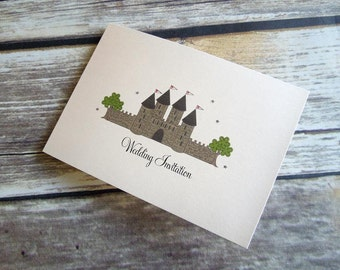 Fairytale Castle Wedding Invitation // Fairytale Castle Evening Invitation