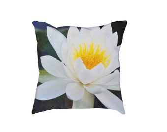 Water Lilly Floral Cushion, Pillow Case, Pillow Cover, Decorative Pillow, Home Decor, Homeware, Bohemian Decor, Cushion Cover, Floral Decor