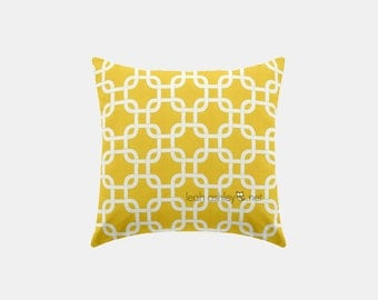 Square Pillow Cover - Corn Yellow Square - S1