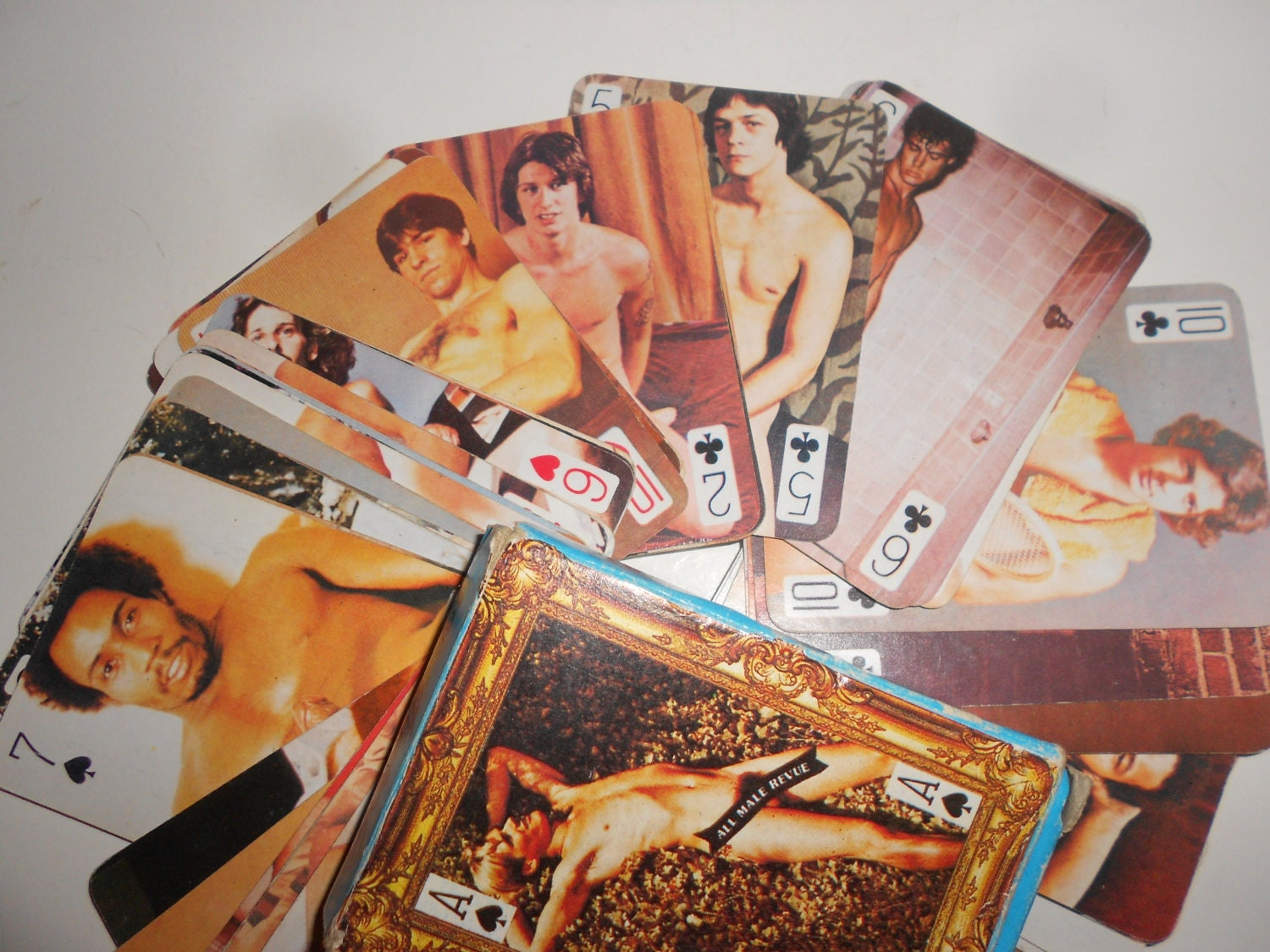 Male strip playing cards