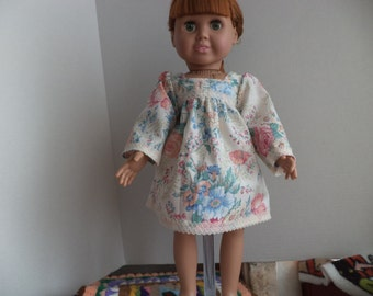 18 inch Doll Floral Print Dress, doll clothes, Ready to Ship
