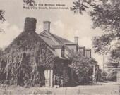 The Old Britton House- 1910s Antique Postcard- New Dorp Beach- Staten Island, New York- W J Grimshaw- Souvenir Albertype- Paper Ephemera