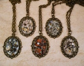 Steampunk Frame Necklaces with Watch Parts - 5 Designs to Choose From - Great for a Christmas gift!