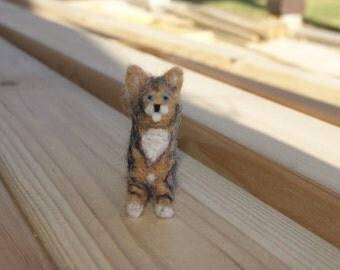 Felted cat, cat miniature, neddle felted cat, super tiny cat, kitten