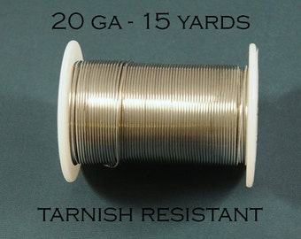 20ga Tarnish Resistant Silver Craft Wire from Bead Smith - 15 Yards