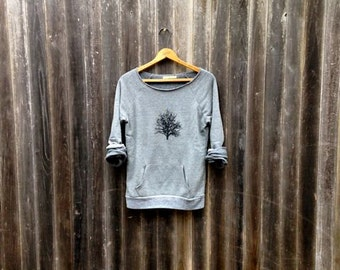 in my shadow Tree Sweatshirt, Yoga Top, Cozy Sweater, S,M,L,XL,2XL