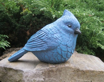 Bird Statues, Bluebird Birds Sculpture Garden Decor, Birdbath Bird Figure, Concrete Bird, Garden Bird, Cast Stone Garden Statues, Yard Art