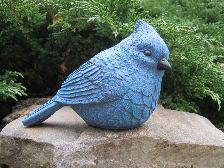 bird statues bluebird birds sculpture garden decor birdbath