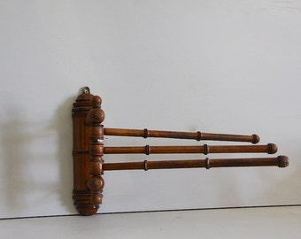 Rustic Antique French Towel Rail Faux Bamboo
