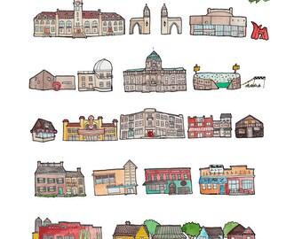Bloomington Indiana print