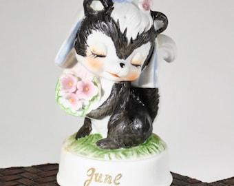June Bride Skunk Figurine