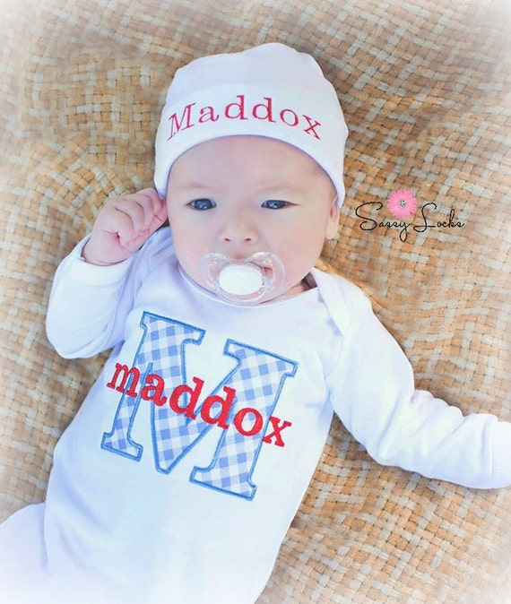 Baby Boy Gift Clothes : Newborn baby boy clothes personalized take by