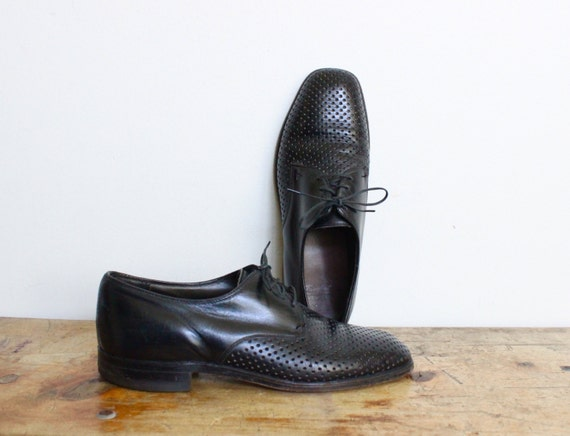 black leather summer dress shoes mens size 10 by
