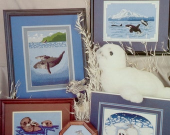 Holly Cherie Barbo SEA MAMMALS By Pegasus Publications (Multiple Designs) - Counted Cross Stitch Pattern Chart Booklet